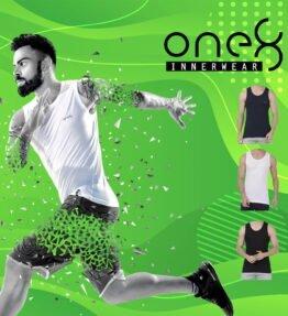One8 By Virat Kohli Ultra Light Vest (Pack Of 3)- Black, White, Navy